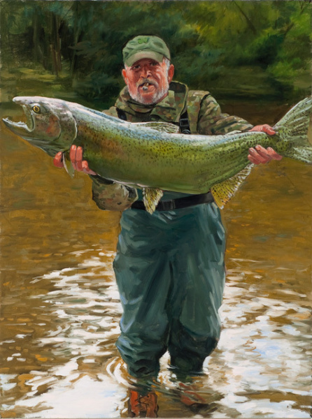 Self-portrait with Trout
