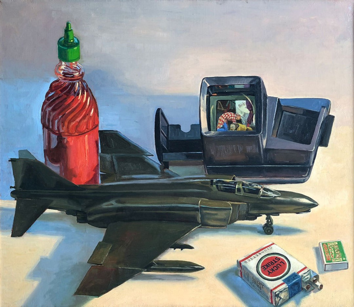 "Triumph of Death,18"" x 24"", 1990"