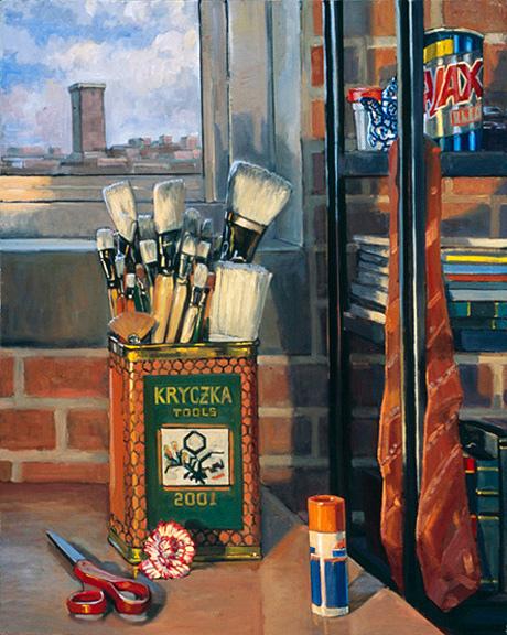 "Artist's Tools, 24"" x 28"", 2001, Dengerink Collection"