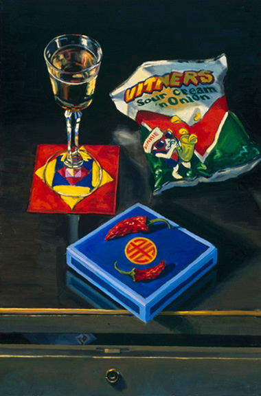"""Snacks and Gifts, 24"""" x 36"""", 1993"""