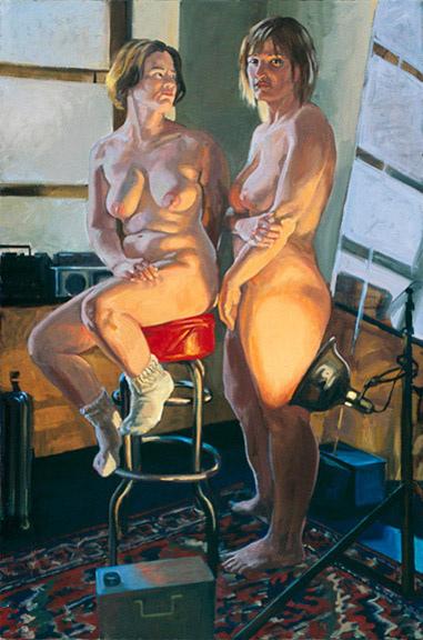 "Two Women, Studio, approx. 40 x 50"""