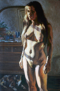 "Portrait of Claudia, 24"" x 36"",1989"